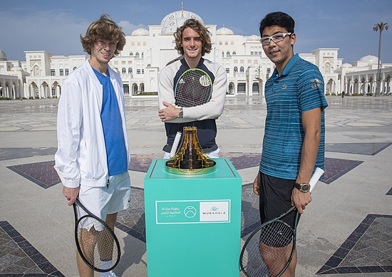 Image 01 - Mubadala World Tennis Championship trio visit Abu Dhabi's Qasr Al Watan.jpg